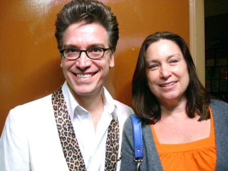 Comedian Lord Carrett and KittyKind President Cathy Christel