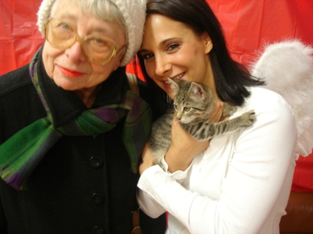 KittyKind Volunteers Dorothy and Josey (aka Cupid)